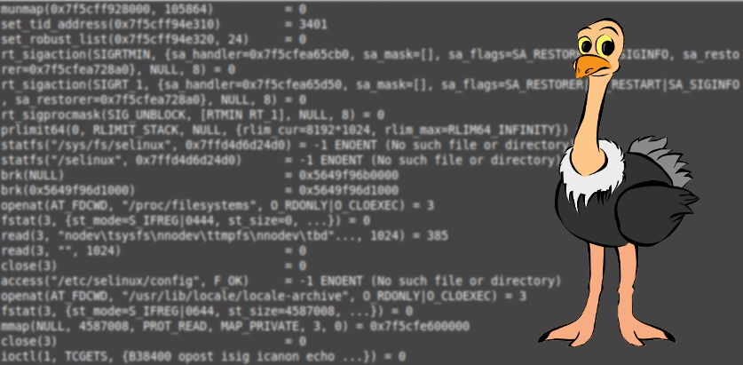 Lessons in debugging: observe how programs interact with the Linux kernel with STRACE
